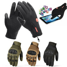 Touch Screen Motorcycle Tactical Hard Knuckle Full Finger Sport Gloves For Men