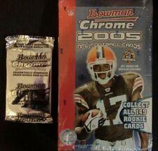 2005 BOWMAN CHROME NFL FOOTBALL HOBBY BOX + BOX TOPPER  AARON RODGERS RC?  NEW