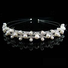 Hochzeit Braut Haarschmuck Kopfschmuck Krone Haarkamm Perle Haargesteck 4413