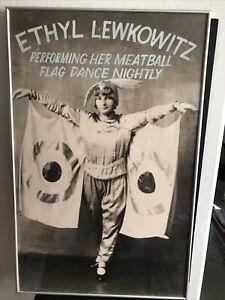 Vantage Vaudeville Framed Poster Ethyl Lewkowitz Meatball Flag Dance