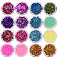 30PCS Mix Colors Glitter Dust Powder Set For Nail Art Acrylic Tips Decoration