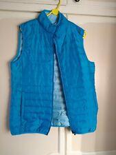 Women Ladies Turquoise Blue Bodywarmer GiletBy Crane ~ Size L/Large