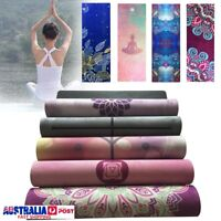 1.5mm Eco-Friendly Rubber Yoga Mat Fitness Pilates Hot Exercise Gym Camping Pad