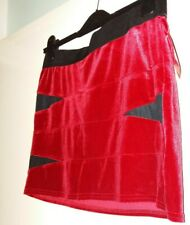 Red Velour fitted mini skirt size 12 ***New with tags***