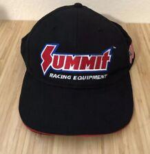 Summit Racing Equipment Hat Cap Black Red American Flag