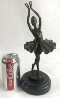Art Deco Hot Cast Bronze Graceful Ballerina Ballet Statue Sculpture Milo GIFT