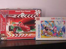 Ravensburger Giant Floor Puzzle 24 pezzi Cars 2 Francesco + Topolino Disney