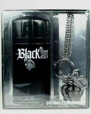 Gift set PACO RABANNE EDT 100ml Black XS Jeans Chain Crown pendant 3.3 oz.