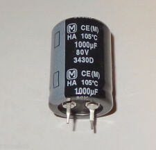 ^ 12 pcs 1000uF, 80V, 105 deg, Snap-In, electrolytic capacitor by Panasonic