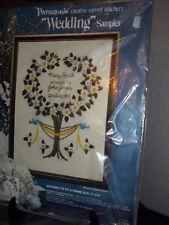 """Vintage Paragon Barbara Sparre Crewel Embroidery Sampler Kit 12""""x16"""" Sealed"""