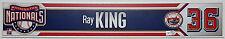 RAY KING Game Used Washington Nationals Inaugural Opening Day Name Plate MLB