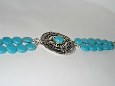 Turquoise Bracelet with large silver center