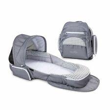 Baby Delight Snuggle Nest Traveler Portable Infant Sleeper Grey Diamond Canopy