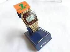 NOS RARE VINTAGE CITIZEN 7 Quartz Alarm Chronograph Digital WATCH CQ-2027-91