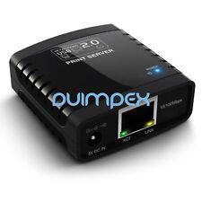 I04 Netzwerk LAN RJ45 USB 2.0 Printserver Adapter Print Server Drucker Scanner