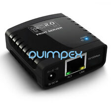 I04 Network LAN RJ45 USB 2.0 Printserver Adapter Print Server Printer Scanner