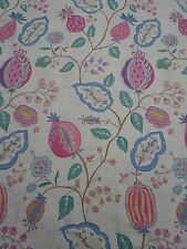 Sanderson Curtain Fabric~ 'Fantasy Garden' Magenta/Marine Blue 4.3 METRES