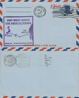 US 1967 PAN AM FIRST DIRECT FLIGHT LOS ANGELES TO OSAKA FLOWN KENNEDY AIR LETTER