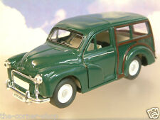 SAICO 1/26 DIECAST MORRIS MINOR TRAVELLER WITH PULL BACK MOTOR IN GREEN OVER 5""