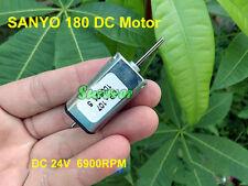 Micro SANYO 180 Motor DC 12V 18V 24V 6900RPM Long Shaft Carbon Brush Small Motor