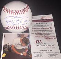 """Chris Sale Chicago White Sox Signed MLB Baseball 2015 AL """"K"""" KING JSA WITNESS"""