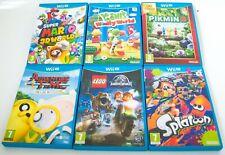 SUPER 3D MARIO YOSHI PIKMIN LEGO ADVENTURE TIME NINTENDO Wii U SIX GAME JOB LOT