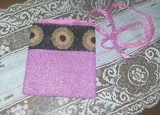 Tarot Card Beaded Handbag Handmade Indonesia Hot Pink