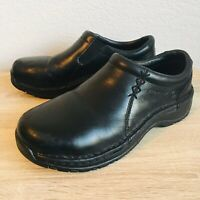 Womens Red Wing Oil Resistant Steel Toe Slip On Black Leather Shoes Sz 6.5