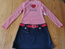 Nwt Girls Pink & Violet Christmas Santa Holiday Dress Red White Black XL 14 16