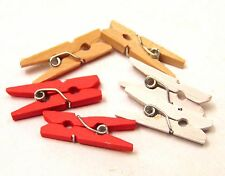 1:6 Scale Six Mixed Working Clothing Pegs Dolls House Craft Kitchen Accessory