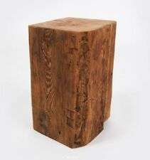 Large Reclaimed Beam Block Side Table Finished