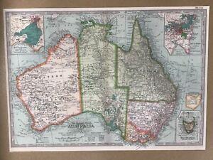 Map of Australia - poster, vintage style, decorative