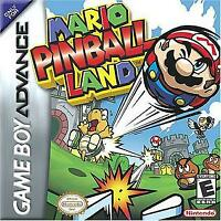 Mario Pinball Land - Nintendo Game Boy Advance GBA
