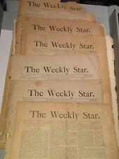 vintage THE WEEKLY STAR SAN FRANCISCO NEWSPAPER LOT 1889 1890
