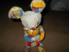 Eden Toy Company Vintage Toy Mouse in Patchwork Outfit Made in USA