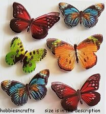 RECOLLECTIONS 3-D THEMED GLITTER STICKERS - INSECTS BUGS - BUTTERFLY BUTTERFLIES