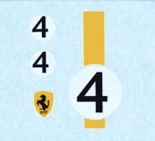 Corgi 314 Ferrari Berlinetta | Number 4 | Waterslide Transfer