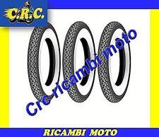 3 PNEUMATICI GOMMA 3.50-10 FASCIA BIANCA RUOTA VESPA LML STAR 125 150 4T
