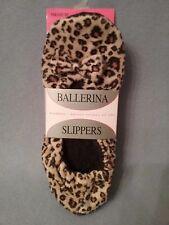 Women's slippers medium animal print ballerina slippers