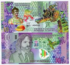 Banco De Kamberra, 10 Numismas, 2013 (issued 2014) - Fantasy Issue, Polymer Note