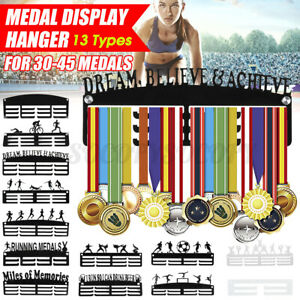 Acrylic Medal Holder Display Sport Running Medal Hanger Race For 30-45 Medals US
