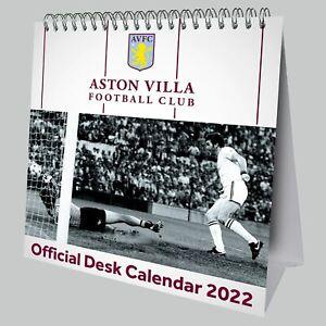 Aston Villa FC Football Club Desk Easel 2022 Calendar Page-a-Month Tent AVFC EPL