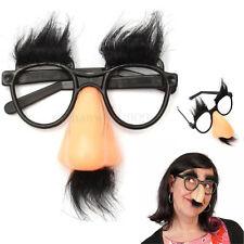 Hot Disguise Moustache Glasses Specs Halloween Party Fancy Funny Dress Hen Nose