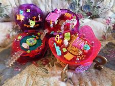 polly pocket 1996 jewel magic ball play set case Bluebird with 5 Jewels - EX