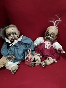 """Sinisterly Sissy's 'Big Sister and Mandie' Undead, Spooky, Creepy, Haunted, 15"""""""