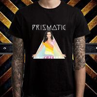 Katy Perry Prismatic World Tour Logo Men's Black T-Shirt Size S to 3XL
