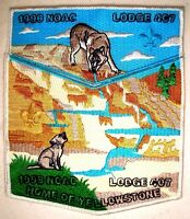 SHUNKAH MAHNEETU OA LODGE 407 GRAND TETON YELLOWSTONE 1998 NOAC DELEGATE 2-PATCH