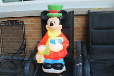 "34"" Disney Santas Best Mickey Mouse Lighted Christmas Outdoor Blow Mold Yard"