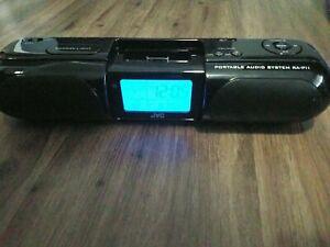 JVC iPod Portable Audio System RA-P11BK Remote Control Calendar Clock