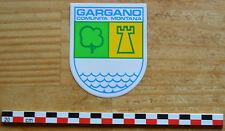Autocollant sticker des années 1980, Gargano blason